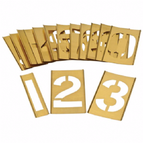 Interlocking Brass | Zinc Stencil Kits - Numbers 0-9 | paints4trade.com